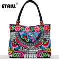 Indian Floral Embroidery Bags Ethnic Thailand Handmade Embroidered Luxury Handbags Women Bags Designer with Logo Sac a Dos Femme