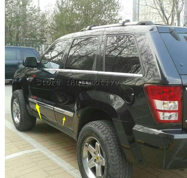 For JEEP Grand Cherokee 2005 2009 Door Side Body Molding Cover Kit Trim