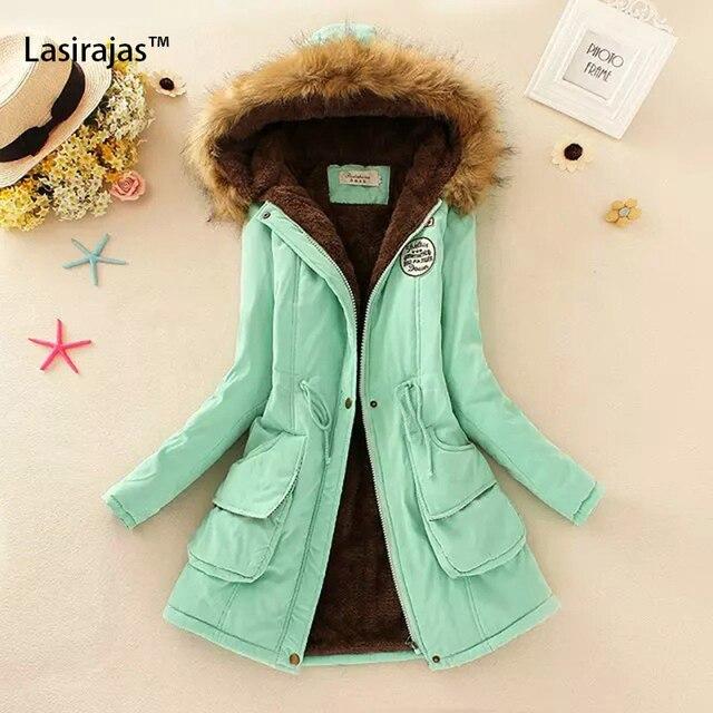 Women Coats New Winner Solid Basic Jacket Thin Warm Coat Hooded Fur Collar Waist Clothing Casual Women Jacket Long Sleeve Zipper