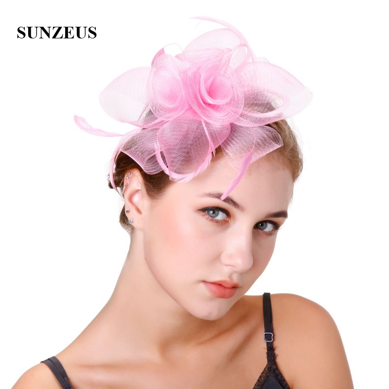 Tulle Flowers Feathers Bridal Hats Charming Women's Special Occasion Party Hair Accessories SH45