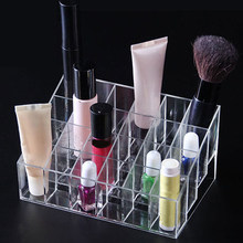 popfeel 40/24 Grids Acrylic Makeup Organizers Lipstick Holder Display Stand Cosmetic Makeup Brush Storage Rack(China)