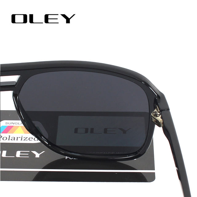 OLEY Vintage oversized Sunglasses Men brand designer women Polarized Sun Glasses for man shades large spectacles culos de sol 8