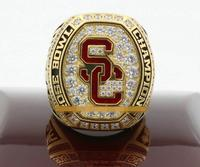 Free Shipping 2017 USC Trojans Rose Bowl Championship Ring Solid With Wooden Display Box Fan Wholesale