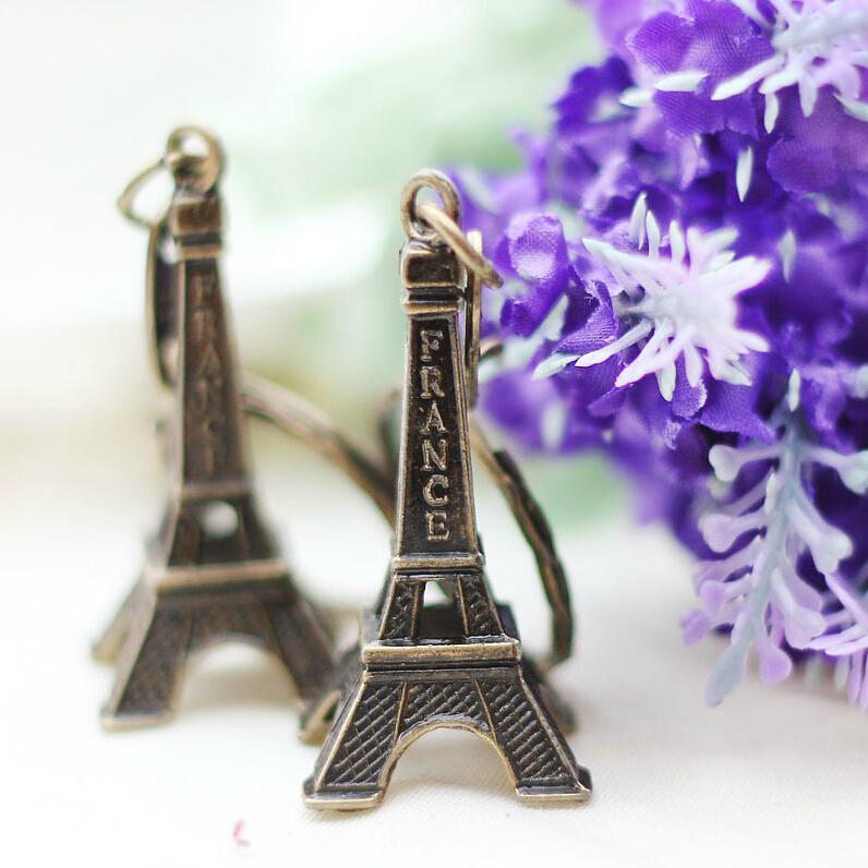 2018 Porte Clef Monchichi Retro Mini Decoration Torre Eiffel Tower Keychain Paris Tour Chain Holder Ring Bag Charm Pendant Gift
