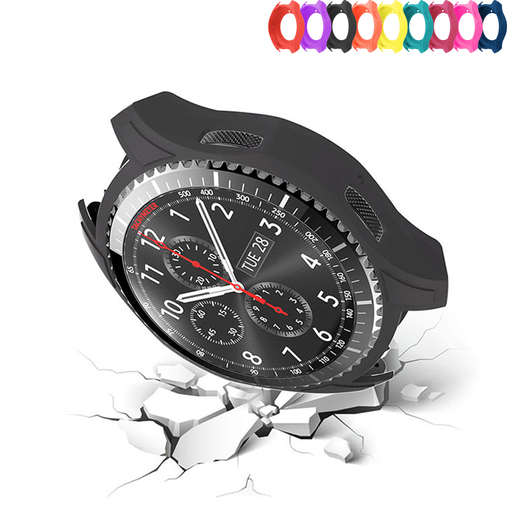 Silicone Watch Case For Samsung Gear S3 Frontier Cover Galaxy Watch 46mm Case Smart Watch Colorful Protective Cover S 3 46 MM