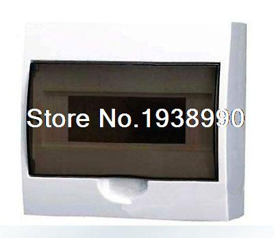 15 Way Enclosure Plastic Residence Surface Mounted Distribution Box Switchboard white plastic cuboid 2 4 way power distribution box guard cover