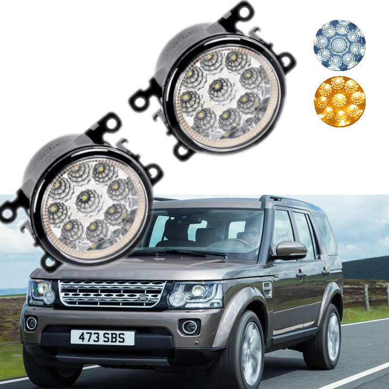Car Styling For Land Rover Discovery 4 2009-2015 9-Pieces Leds Chips LED Fog Light Lamp H11 H8 12V 55W Halogen DRL Fog Lights car rear trunk security shield cargo cover for land rover discovery 3 lr3 2005 2009 high qualit black beige auto accessories