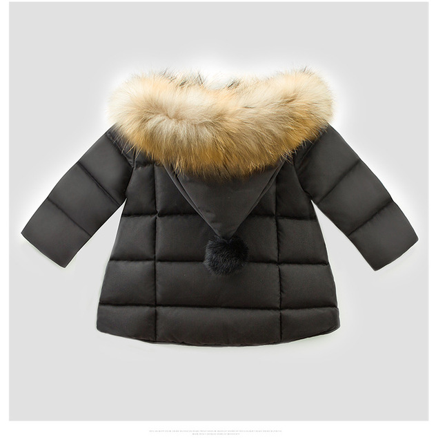 kids snowsuit 2018 winter baby girls winter coat infant children clothing fur collar hooded thick jacket baby girl boy clothes
