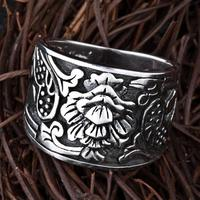 Real Pure 925 Sterling Silver Biker Rings For Men And Women Vintage Flowers Engraved Wide Rings Jewellery Alibaba express
