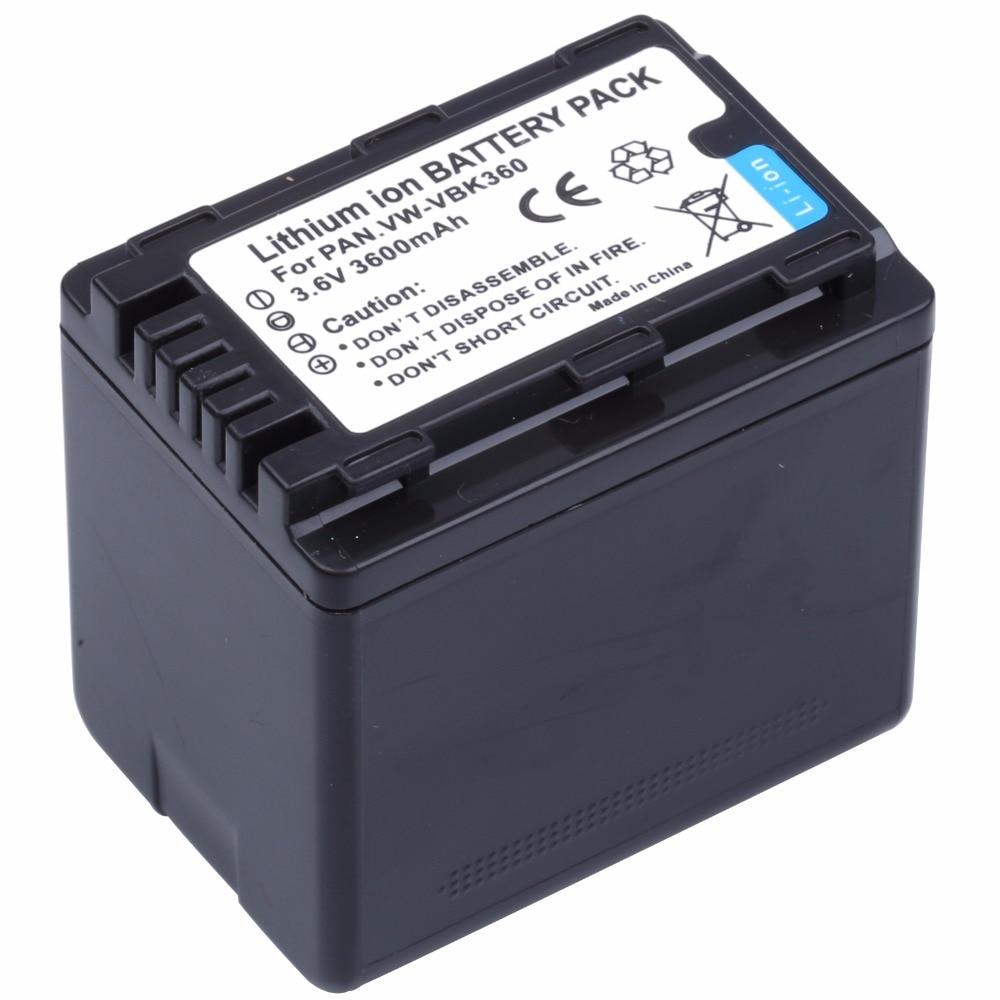 Probty VW-VBK360 VW VBK360 VWVBK360 Camera Battery for Panasonic HDC-HS80 SD40 SD60 SD80 SDX1 SDR-H100 H85 H95 HS60 HS80 TM60