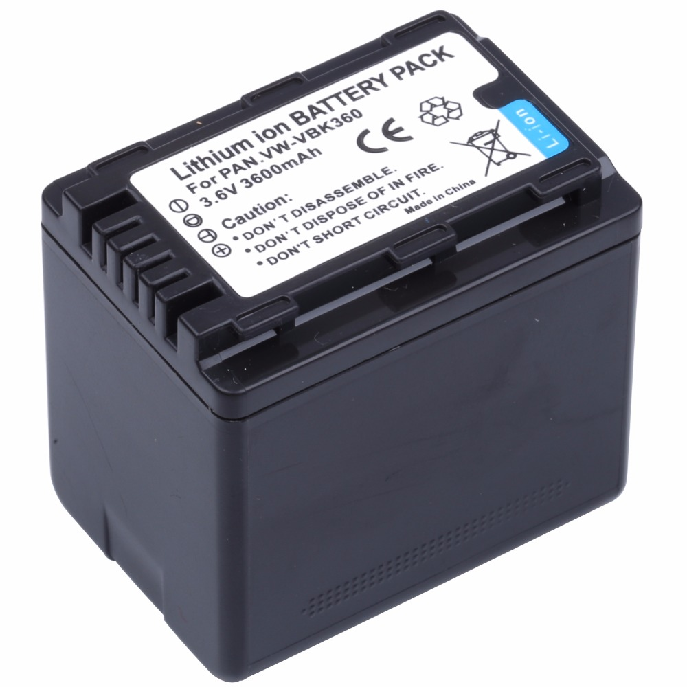 Probty VW-VBK360 VW VBK360 VWVBK360 Camera Battery for Panasonic HDC-HS80 SD40 SD60 SD80 SDX1 SDR-H100 H85 H95 HS60 HS80 TM60
