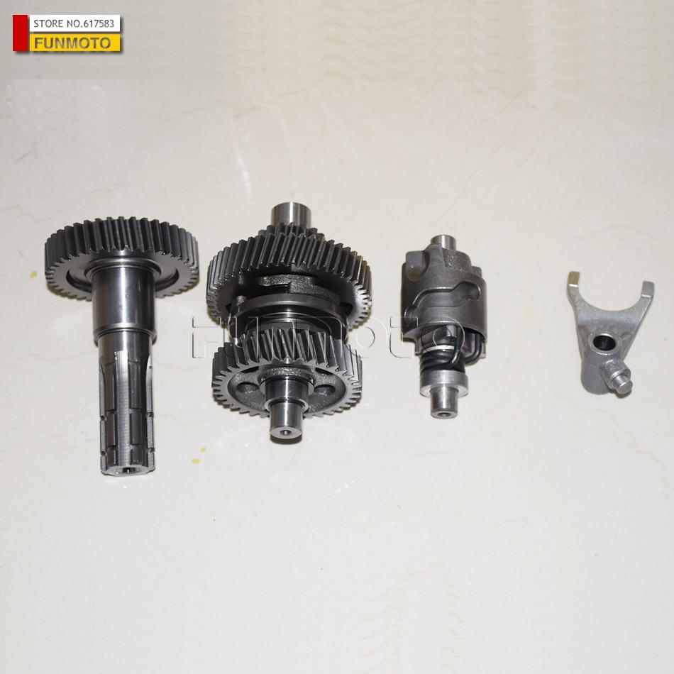 Schaltgetriebe / Abtriebsgetriebe / Gabel / Schaltwalze passend für YONGHE 150 GOKART / E-TON 150 ATV