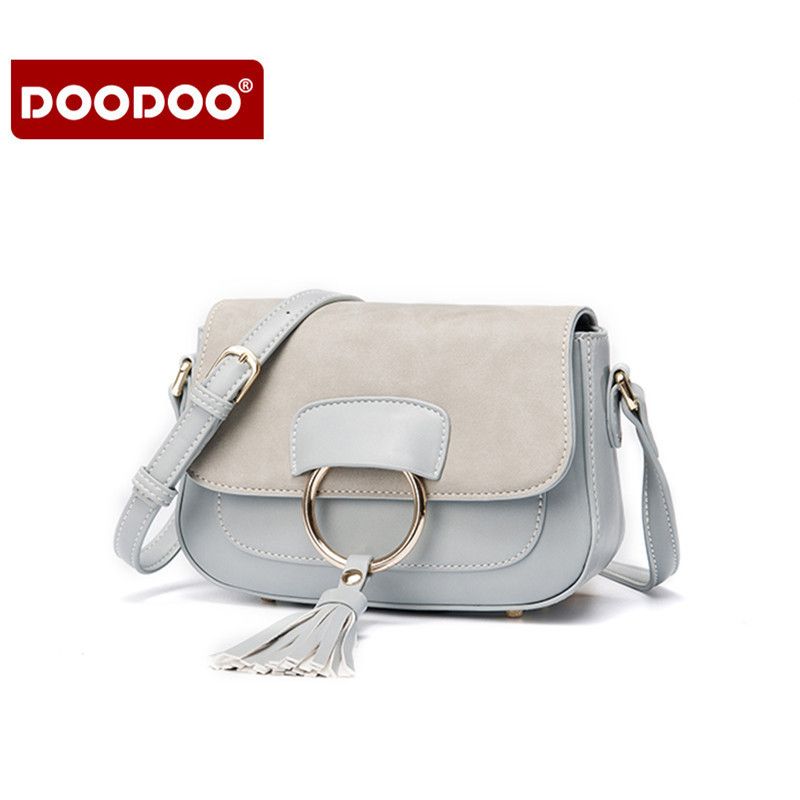 DOODOO High Quality PU Leather Women Crossbody Bags Fashion Female Package Tassel Flap Bags Ladies mini shoulder Messenger Bag just star women s leather messenger bags ladies fashion shell tassel shoulder purse female bee summer crossbody bags