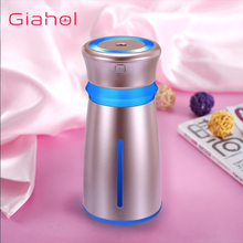GIAHOL 300ml Portable USB Cool Mist air Humidifier Car Mute Mini Aromatherapy Diffuser with Colorful LED Lights Auto Shut-Off