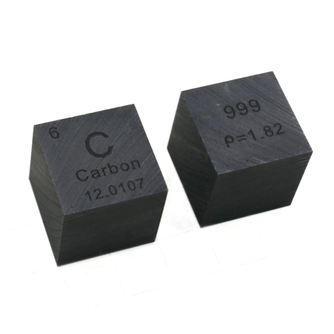 High Purity 10 X 10 X 10mm Wiredrawing Carbon Cube Periodic Table Of Elements Cube For Research Lab Collection(C≥99.9%)