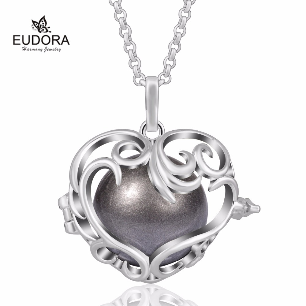 Flower Heart Cage 2017 Christmas Gift for Mom Baby Angel Caller Pendant Mexican Bola K195N Harmony
