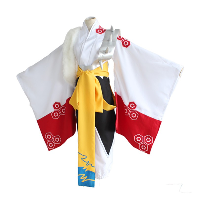 Fashion Anime Inuyasha Sesshoumaru Cosplay Costume Full Set New Sesshomaru White Classic Kimono Halloween Party Costumes Clothes