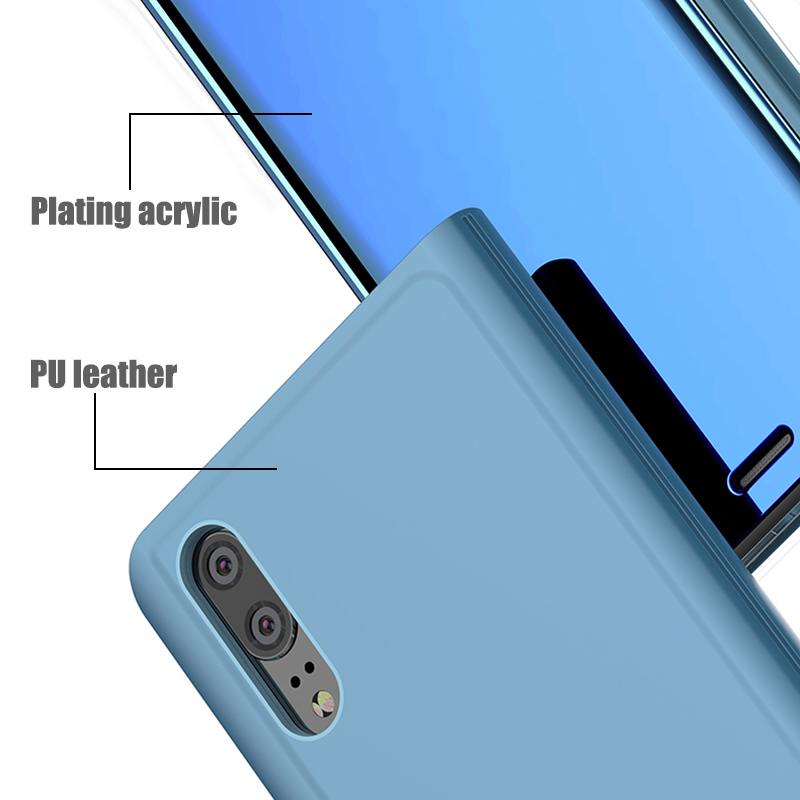 Clear Mirror Smart View Case For Huawei P30 P8 P9 P10 P20 Lite P9 P10 Plus For Mate 20 10 Lite P20 P30 Pro Honor 10 9 Flip cover in Flip Cases from Cellphones Telecommunications