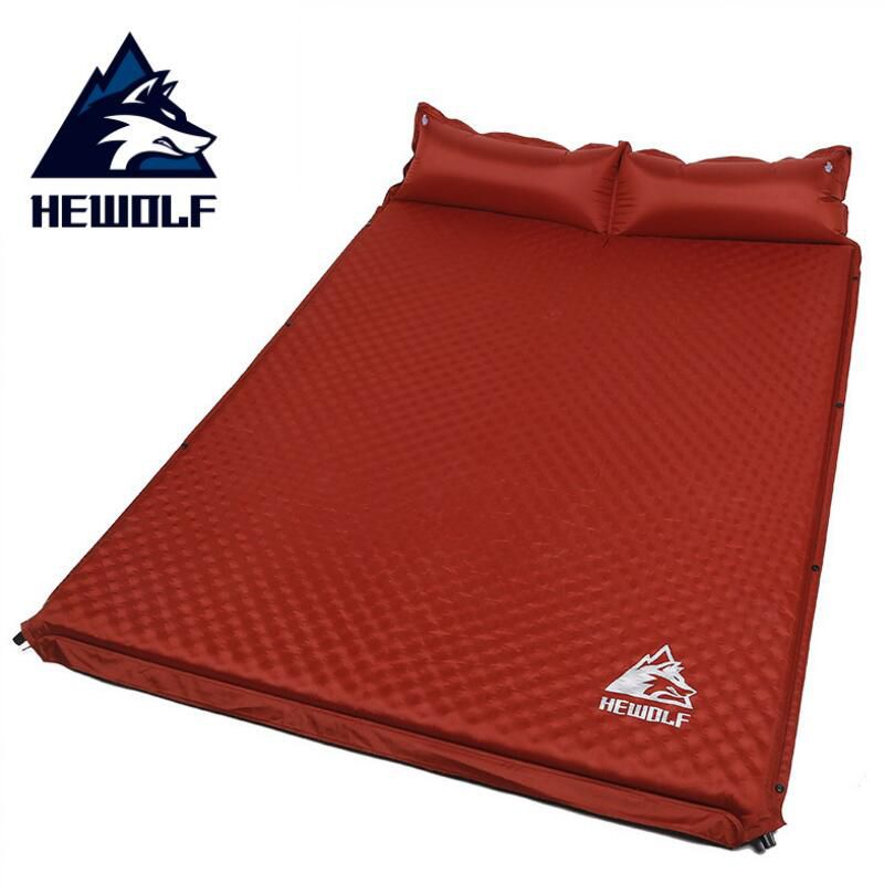 Hewolf Sleeping Self-inflating Mat Inflatable Pad Air Mattress Foam Damp-proof Double Mattress In The Tent For Camping Pad kingcamp comfort mattress self inflating damp proof 2 person camping mat with pillows inflatable mattress