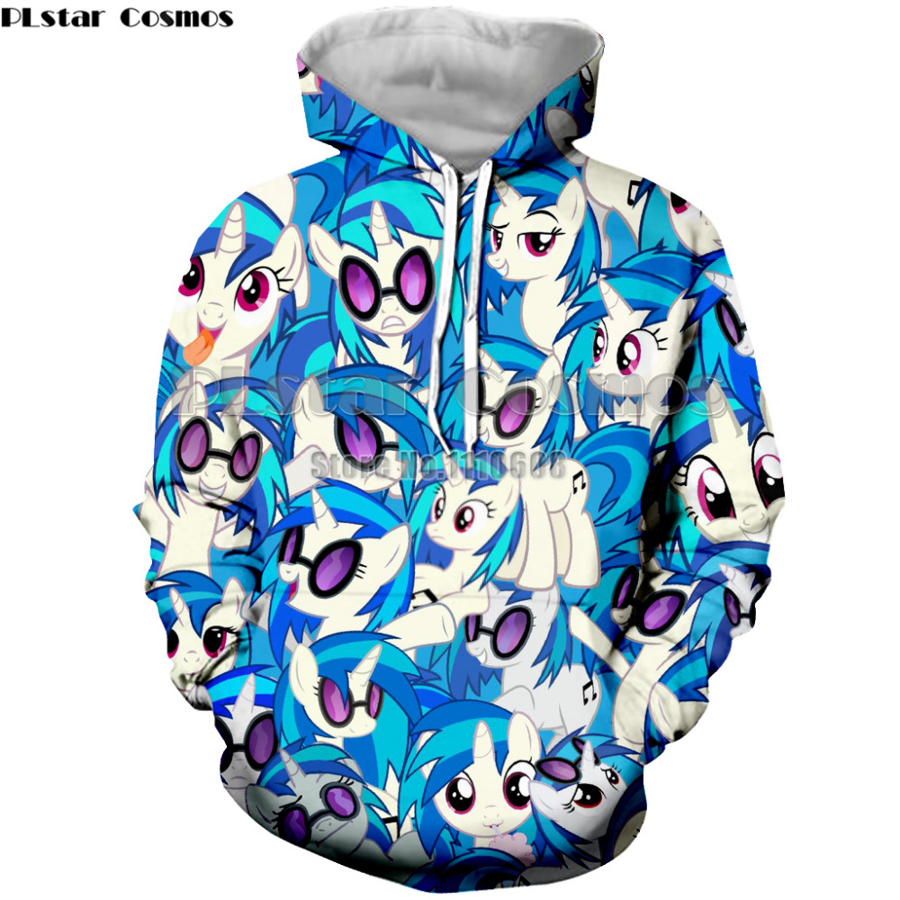 PLstar Cosmos  Little Pony Coat Cartoon Autumn And Spring pullover Jacket cute sweatshirt Hoodies Outerwear