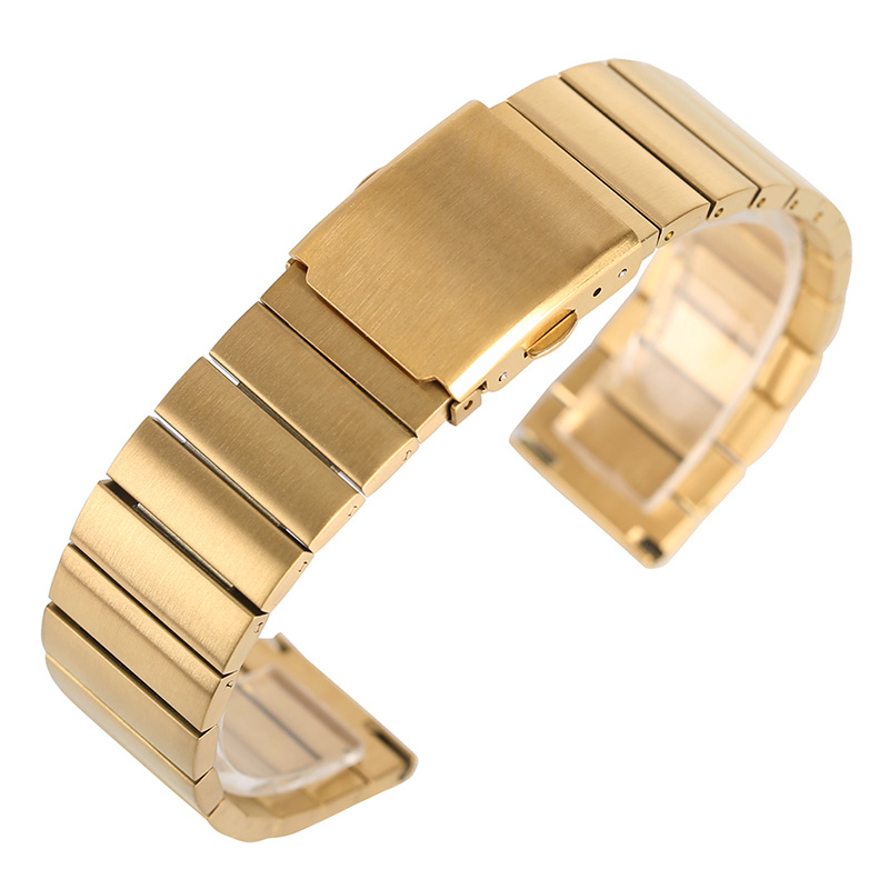 18mm 20mm 22mm 24mm Luxury Golden Business Watch Band Stainless Steel Bracelet Solid Link Metal Strap Replacement +2 Spring Bars watch strap bracelet for hours golden and silver color 20mm 22mm 24mm stainless steel watch solid band gd0141