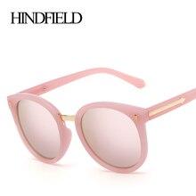 Hindfield Мода Круглый Солнцезащитные очки для женщин Для женщин поляризационные бренд дизайн металлический стрелки Ретро Очки женщина Óculos gafas-де-сол женщина