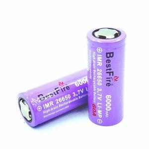 Image 3 - 2 pcs 26650 Bestfire 6000 mAh 3.7 V แบตเตอรี่ Li   Ion E บุหรี่ Vape ไฟฉาย LED ไฟฉาย 26650 b009 B043