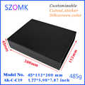 1 pc, 45*152*200mm szomk electronics aluminum junction box aluminum extrusion enclosure split type aluminum outlet box