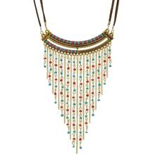Bohemian Fashion Female Pendant Necklace Tassel Long Statement Women Collares Jewlery Accessories
