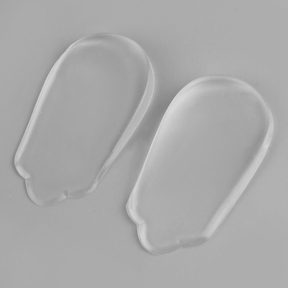 High Quality Silicone Gel Corrective Cushion Foot Heel Elastic Care Half Insole Shoe Pad Foot Care Tool