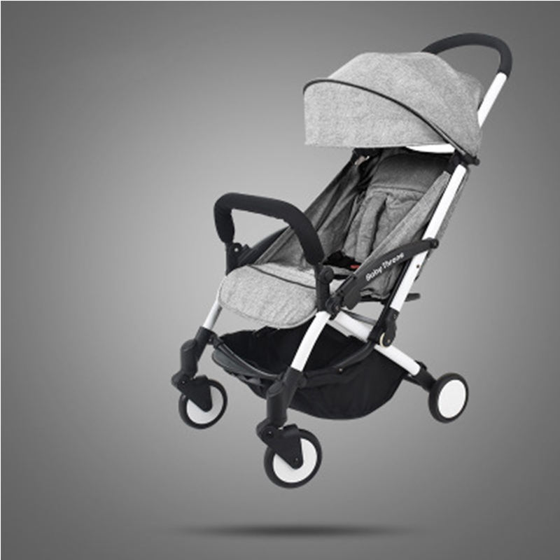 все цены на Baby lightweight strollers 2 in 1 aluminum alloy can be on the plane folding stroller for child baby buggy онлайн