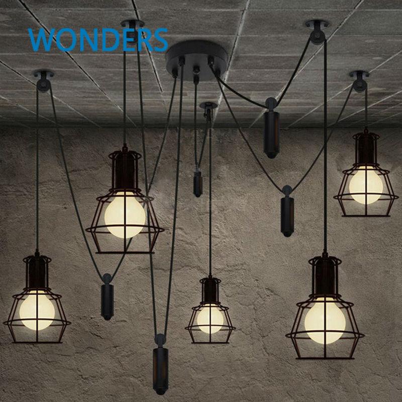 Loft Rh Industrial Warehouse Pendant Lights American: Achetez En Gros Poulie Pendentif Lumière En Ligne à Des
