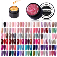 LEMOOC 180 Color 5ml Glitter Nail Gel Polish Shiny Pearl Rainbow Soak Off UV LED Art Lacquer For