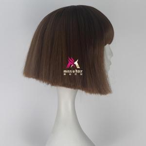Image 4 - Panna U włosy krótkie proste włosy Fran Bow brązowy kolor dziewczyna gra Halloween peruka do cosplay