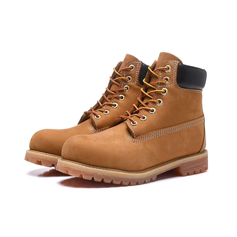 ... 2018 Новая зимняя мужская обувь Martens военные уличные ботинки из  коровьей кожи timber Land ботинки высокого ... 574d7c8f39d