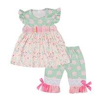 رخيصة الثمن طفل أزياء ملابس تشكيل أعلى طباعة نمط مصنع البيع المباشر القطن capris ملابس الأطفال