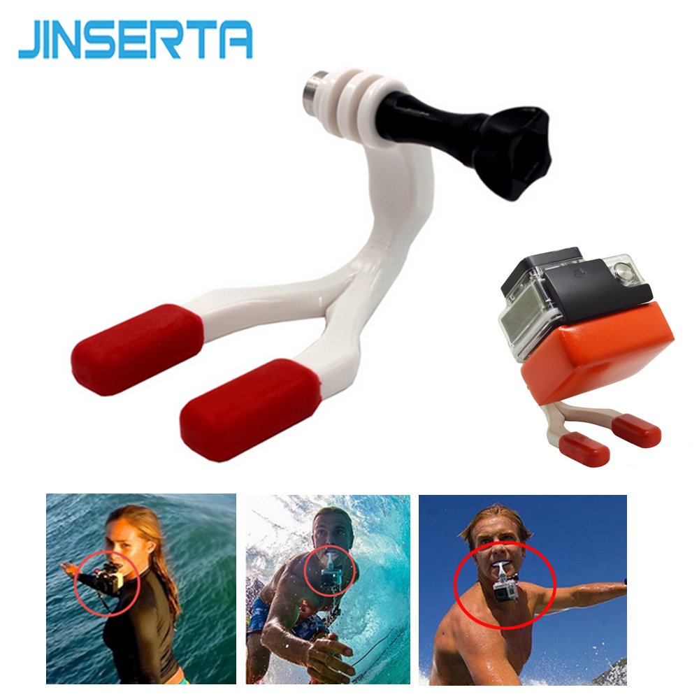 JINSERTA for Go pro Accessories Mouth Mount Set Surf Braces Connector Surfing For Gopro Hero 6 5 4 3+ for SJ4000 for Xiaomi smj g 649 bodyboard surfboard surfing fixed bracket for gopro hero3 3 sj4000 black