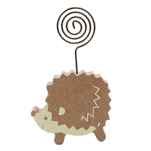 Peg Desk-Gadget Stand Photo-Clip-Holder Paper Memo Wood Cute Clamps Clips Hedgehog Mushrooms