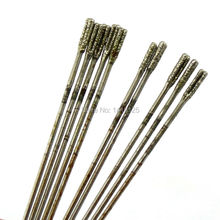 10Pcs 2mm Diamond Coated Lapidary Drill Hole Needle Solid Bits 1#  for Jewelry Agate Gems
