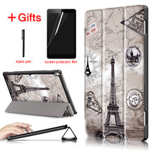 PU Leather Case For Lenovo tab 4 10 plus TB-X704L TB-X704F TB-X704N Magnet Smart Cover Funda For Lenovo tab4 tab 4 plus 10.1(China)