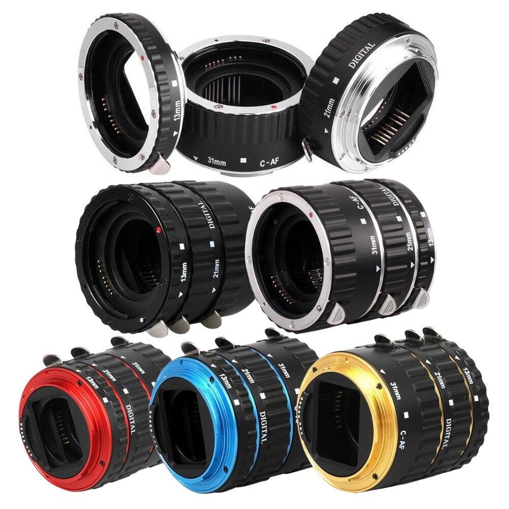 Montaje de Metal Enfoque Automático AF Anillo Tubo de Extensión Macro para Canon EOS EF-S lente 760D 750D 700D 5D Mark IV 80D 7D 6D T6s Adaptador de Lente