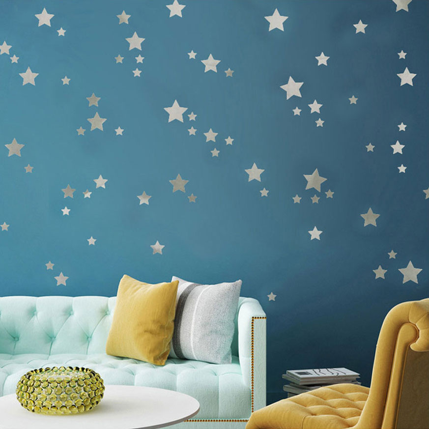 Kids Rooms Climbing Walls And Contemporary Schemes: Aliexpress.com : Buy Modern Silver Stars Decoration Wall
