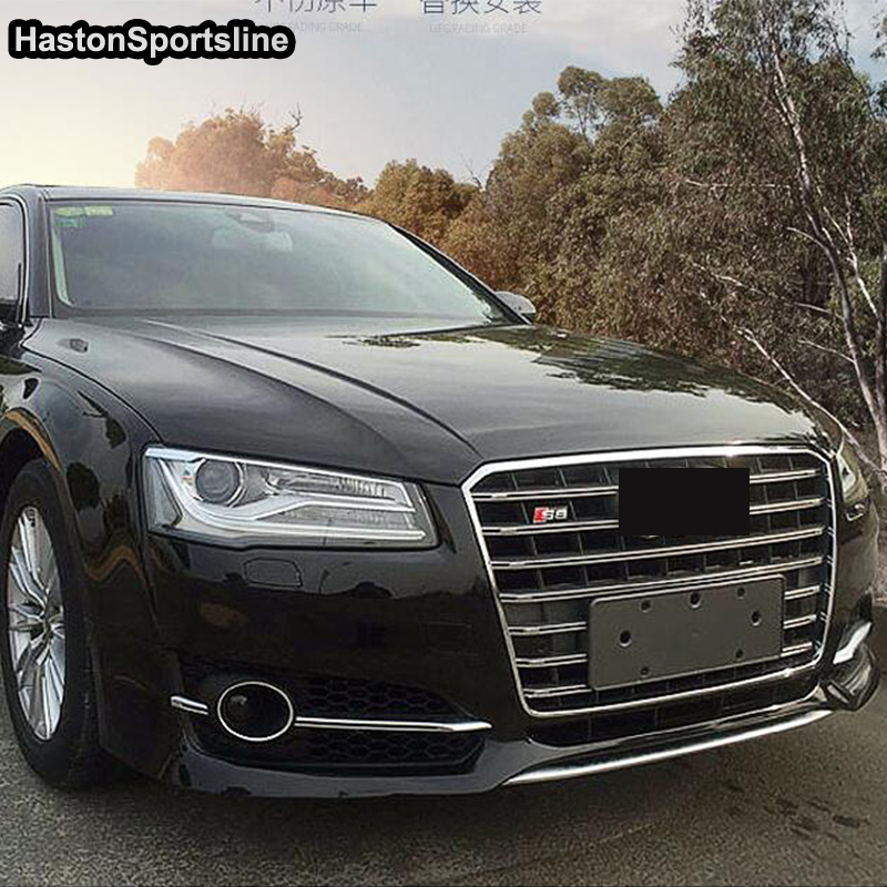 A8 S8 Style ABS Front Mesh Grille Grill For Audi A8 S8