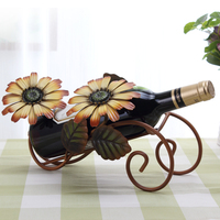 Wine Rack Ornaments European Wine Rack Frame Wine Iron Home Furnishing Wine Shelf Display Simulation