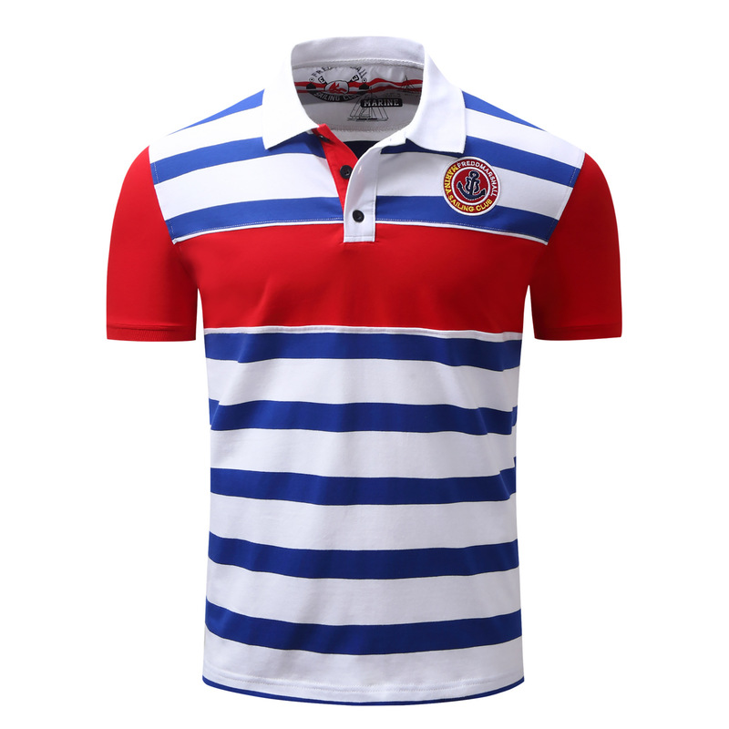 New foreign trade spring and summer casual large size men's   POLO   shirt men's lapel shirt shirt