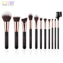 Docolor Makeup Brushes Set 11pcs Eyeshadow Foundation Powder  Make Up Brush Soft Synthetic Hair Cosmetic Tools Kit