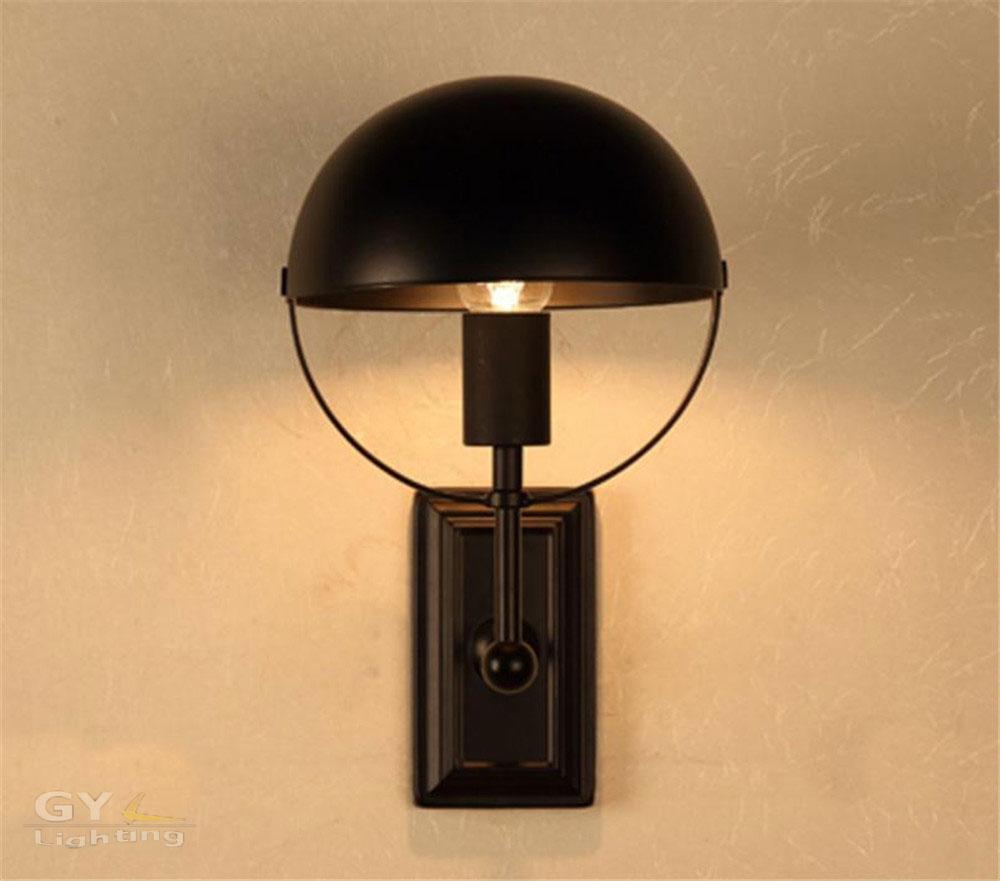 Ac100 240v noir mur pays damérique rétro lampe de chevet balcon couloir escaliers