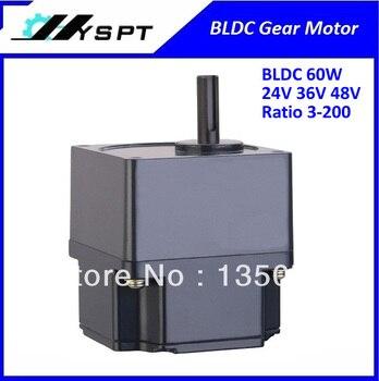 NO. BL6060 hecho en china DC motor de engranaje sin escobillas 60 W 24 V velocidad final 50 rpm sin controlador