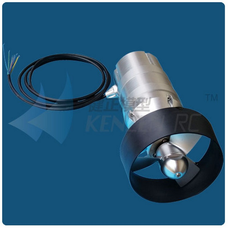 Thrust 12kg depth 300m 48v brushless motor with hall for Waterproof submersible electric motors