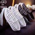 unisex spring and summer leisure shoes cool men's  slip on white canvas shoes cool fashion flat loafers sapatos hombre